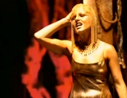 Dolores O'Riordan in The Cranberries' video for Zombie