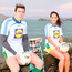 David Moran and Aislinn Desmond at Slea Head to launch Comórtas Peile Páidi Ó Sé 2018, which takes place around the Dingle Peninsula from February 16-18