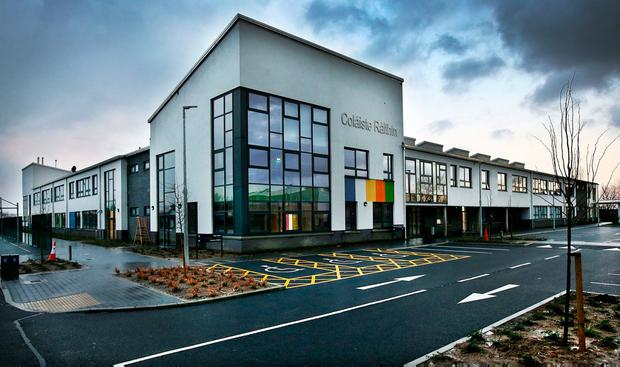 Uncertainty: the new Coláiste Raithín, Bray, is one of six premises being built here by UK builder Carillion. Photo: Steve Humphreys