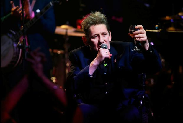 Shane MacGowan performing at his 60th Birthday Celebration Concert at the National Concert Hall . Pic Steve Humphreys 15th January 2018
