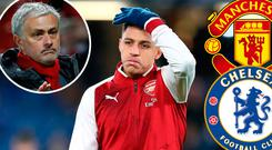 Alexis Sanchez is wanted by Mourinho (inset) and Chelsea