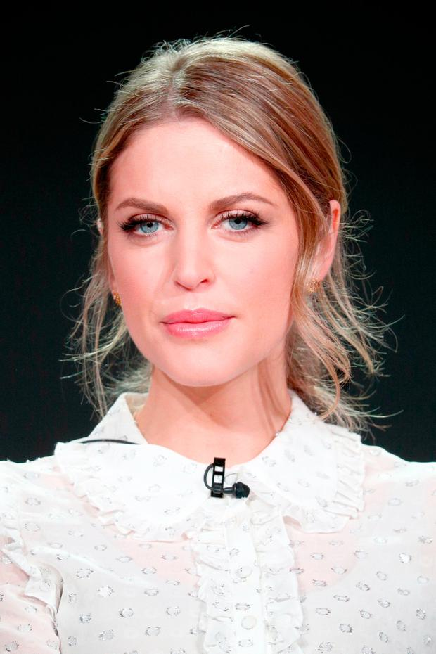 Amy Huberman of 'Striking Out' speaks onstage during the Acorn TV portion of the 2018 Winter Television Critics Association Press Tour at The Langham Huntington, Pasadena on January 15, 2018 in Pasadena, California. (Photo by Frederick M. Brown/Getty Images)