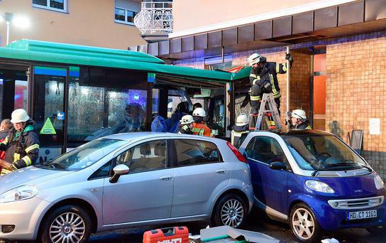 48 injured as school bus rams into building in Eberbach, Germany