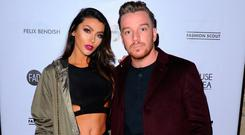Jamie O'Hara and Elizabeth-Jayne Tierney attend the House Of Mea show during the London Fashion Week February 2017 collections on February 19, 2017 in London, England. (Photo by Eamonn M. McCormack/Getty Images)