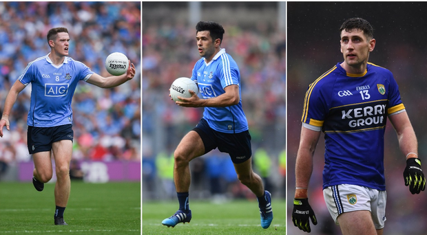 Brian Fenton (left), Cian O'Sullivan (centre) and Paul Geaney (right).