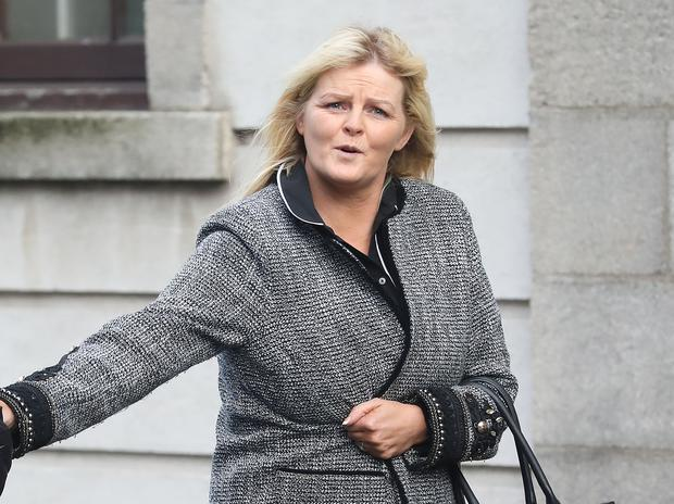Deborah Curtin, mum of Georgia Curtin, with an address in Darndale, Dublin pictured leaving the Four Courts yesterday after the High Court approved a settlement offer of €55,000 damages on behalf of Georgia Curtin Pic: Collins Courts