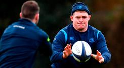 Tadhg Furlong during Leinster Rugby squad training at UCD. Photo: Ramsey Cardy/Sportsfile