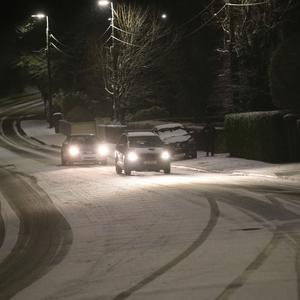 Snow scenes at Stepaside Dublin this evening Pic Stephen Collins/Collins Photos