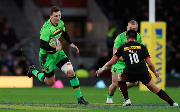 George North in action for the Northampton Saints. Photo: David Rogers/Getty Images for Harlequins