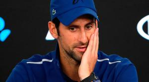 """Djokovic: """"Some of you have written a story that has been a little bit exaggerated."""" Credit: AP Photo/Vincent Thian"""