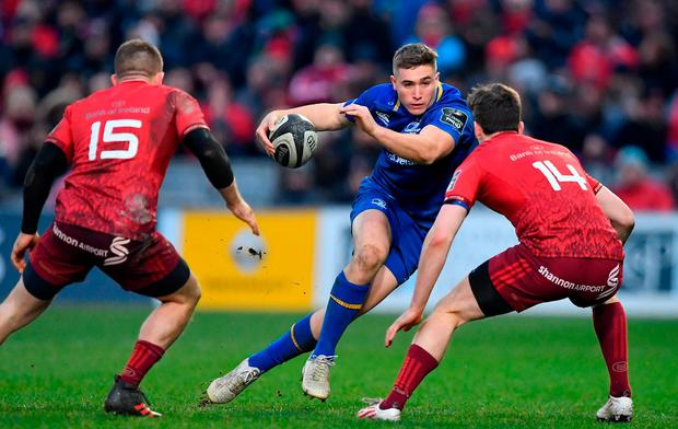 The elusive Jordan Larmour has played his way into the Six Nations debate. Photo: Brendan Moran/Sportsfile