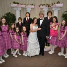 Louise and David Turpin with their 13 children, who were found chained to their beds, in a photo from their Facebook page.