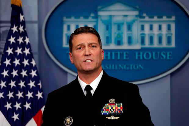 Dr Ronny Jackson, White House physician. Photo: Reuters/Carlos Barria