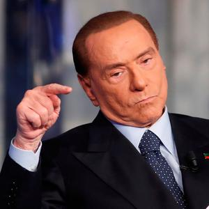 Silvio Berlusconi: claimed migrants causing crime wave. Photo: Reuters/Remo Casilli