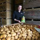 Tom Keogh in the potato store at the Keogh family's 400-acre farm in north county Dublin