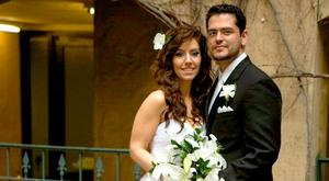 Malak and Alan Thawley on their wedding day