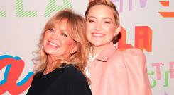 Goldie Hawn and Kate Hudson attend Stella McCartney's Autumn 2018 Collection Launch on January 16, 2018 in Los Angeles, California. (Photo by Christopher Polk/Getty Images)