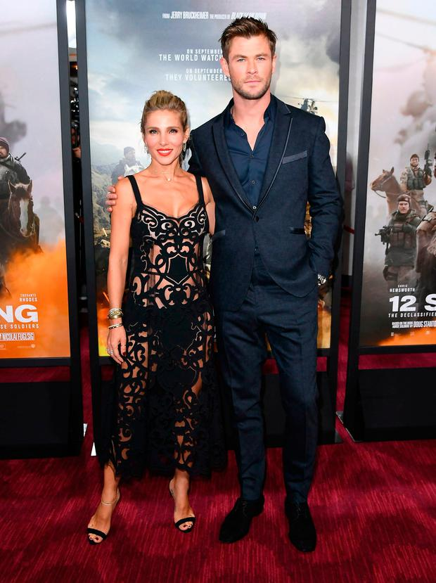 Actors Elsa Pataky and Chris Hemsworth attend the world premiere of