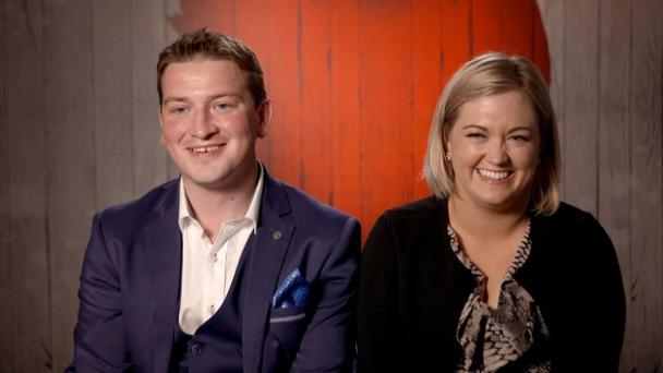 Tara and Eoin on First Dates Ireland. PIC: RTE