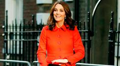 Catherine, Duchess of Cambridge arrives to officially open the Mittal Children's Medical Centre, home to the new Premier Inn Clinical Building at Great Ormond Street Hospital on January 17, 2018 in London, England. (Photo by Frank Augstein-WPA Pool/Getty Images)