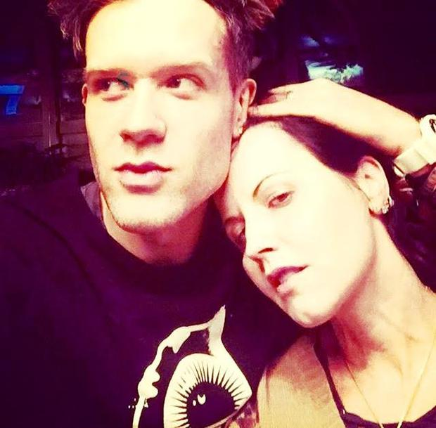 Dolores O'Riordan on Instagram two weeks ago with New York-based musician Ole Koretsky