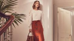 A model wearing an outfit from the upcoming Karen Millen spring/summer collection