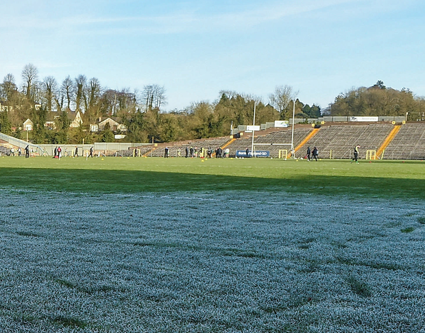 The Dr McKenna Cup match between Monaghan and Donegal scheduled for Clones on January 7 had to be postponed because the pitch was frozen. Photo: Sportsfile