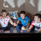 Mayo captain Cillian O'Connor, Tiernan McCann of Tyrone, Cork forward Patrick Horgan and Wexford's Lee Chin at the launch of eir sport's live coverage of the forthcoming Allianz Leagues, which will see 17 games broadcast over seven weekends. Photo: INPHO