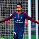 Paris Saint-Germain forward Neymar celebrates scoring his team's fifth goal. Photo: Getty Images