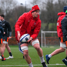 Gerbrandt Grobler during Munster Rugby squad training