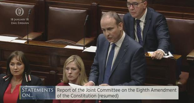 Micheál Martin speaking in the Dail today