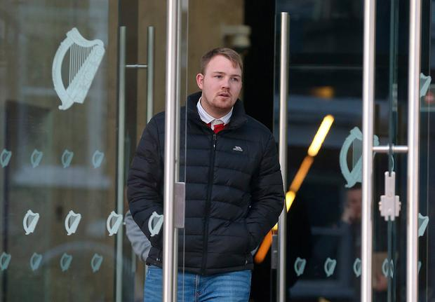 Dylan Collins pictured leaving Dublin Circuit Court this afternoon.Pic Collins Courts