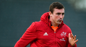 Tommy O'Donnell returned to training after a very emotional week. Photo: Sportsfile