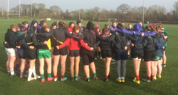 Age-grade girls' squads from Munster and Connacht come together for a development session