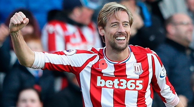Peter Crouch celebrates scoring his side's second goal. Photo: Getty Images
