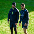 Jonathan Sexton, left, and Ross Byrne of Leinster
