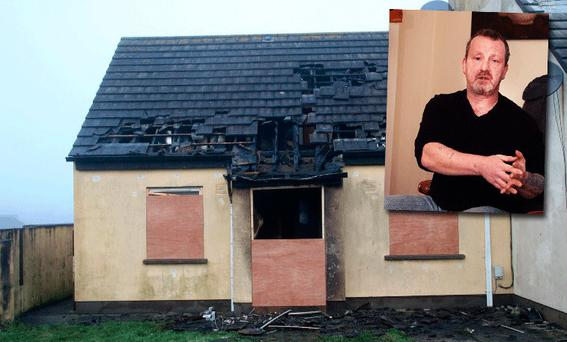 Heroic Brian Boyle (inset) risked his own life to save a stranger from a burning building