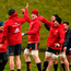 Jack O'Donoghue and CJ Stander during Munster squad
