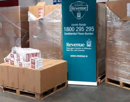 Two million smuggled cigarettes were found at Dublin Port this morning Photo: Revenue