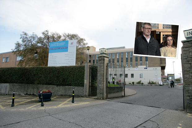 Our Lady of Lourdes Hospital in Drogheda and, inset, parents Ivan Murphy and Fiona Tuite Picture:Arthur Carron/Collins and CourtPix