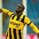 Stanley Aborah playing for Vitesse Arnhem in January 2012 (Photo by VI Images via Getty Images)