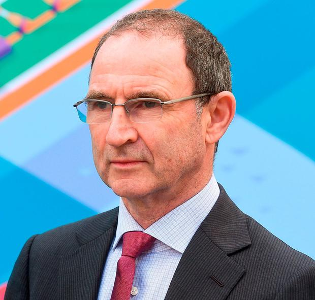 The Ireland manager at the announcement of Dublin as one of the host cities for Euro 2020. Photo: David Maher/Sportsfile