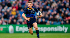 14 January 2018; Jordan Larmour of Leinster during the European Rugby Champions Cup Pool 3 Round 5 match between Leinster and Glasgow Warriors at the RDS Arena in Dublin. Photo by Ramsey Cardy/Sportsfile