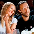 Left: Gwyneth and ex-husband Chris Martin | Right: Gwyneth and Brad announce their engagement on the cover of Goop Magazine