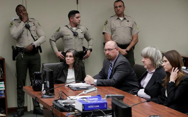 David and Louise Turpin, in court on Thursday Credit: Gina Ferazzi/Reuters