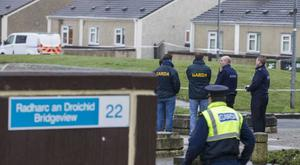 Gardai at the scene. Pic: Mark Condren