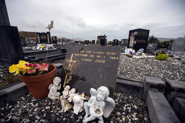 Remembered: The grave of the Kerry Baby named John. Photo: INM
