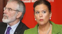 Gerry Adams and Mary Lou McDonald. Photo: RollingNews.ie