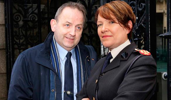 Matter of facts: A composite picture of Garda Sergeant Maurice McCabe and former commissioner Noirin O'Sullivan. Photo: Photocall Ireland