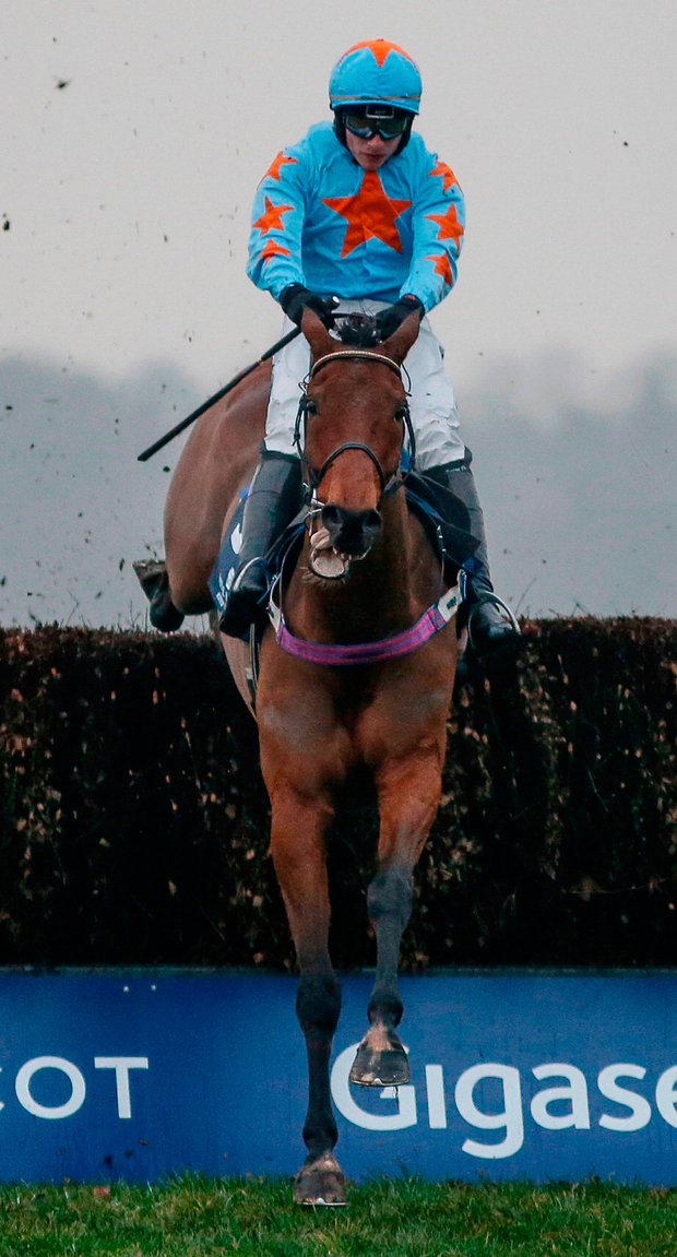 Paul Townend and Un De Sceaux clear the last to win the Clarence House Chase at Ascot. Photo: Alan Crowhurst/Getty Images